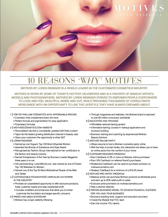 10 reasons for motives